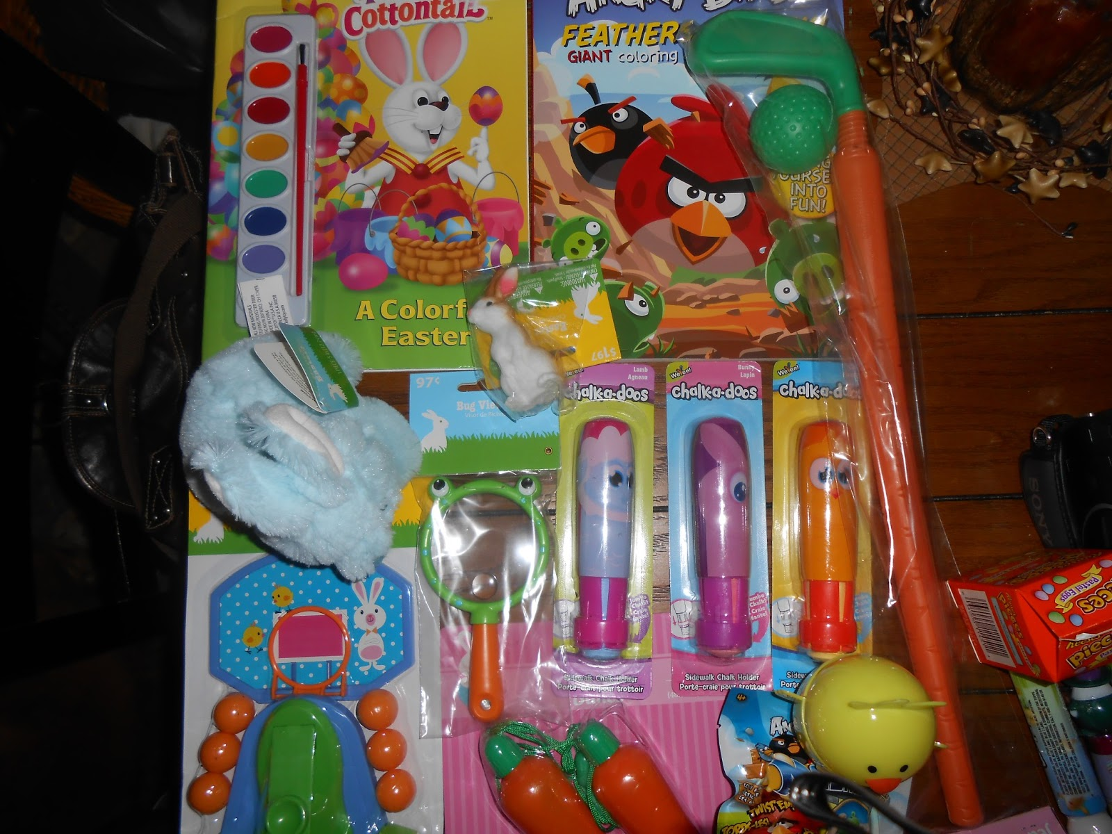 Theeconomicallythriftymommy what the easter bunny is bringing our coloring book with paint 100 consignment sale angry bird coloring book 100 family dollar plush bunny 97 walmart stretchy bunny 197 walmart negle Gallery