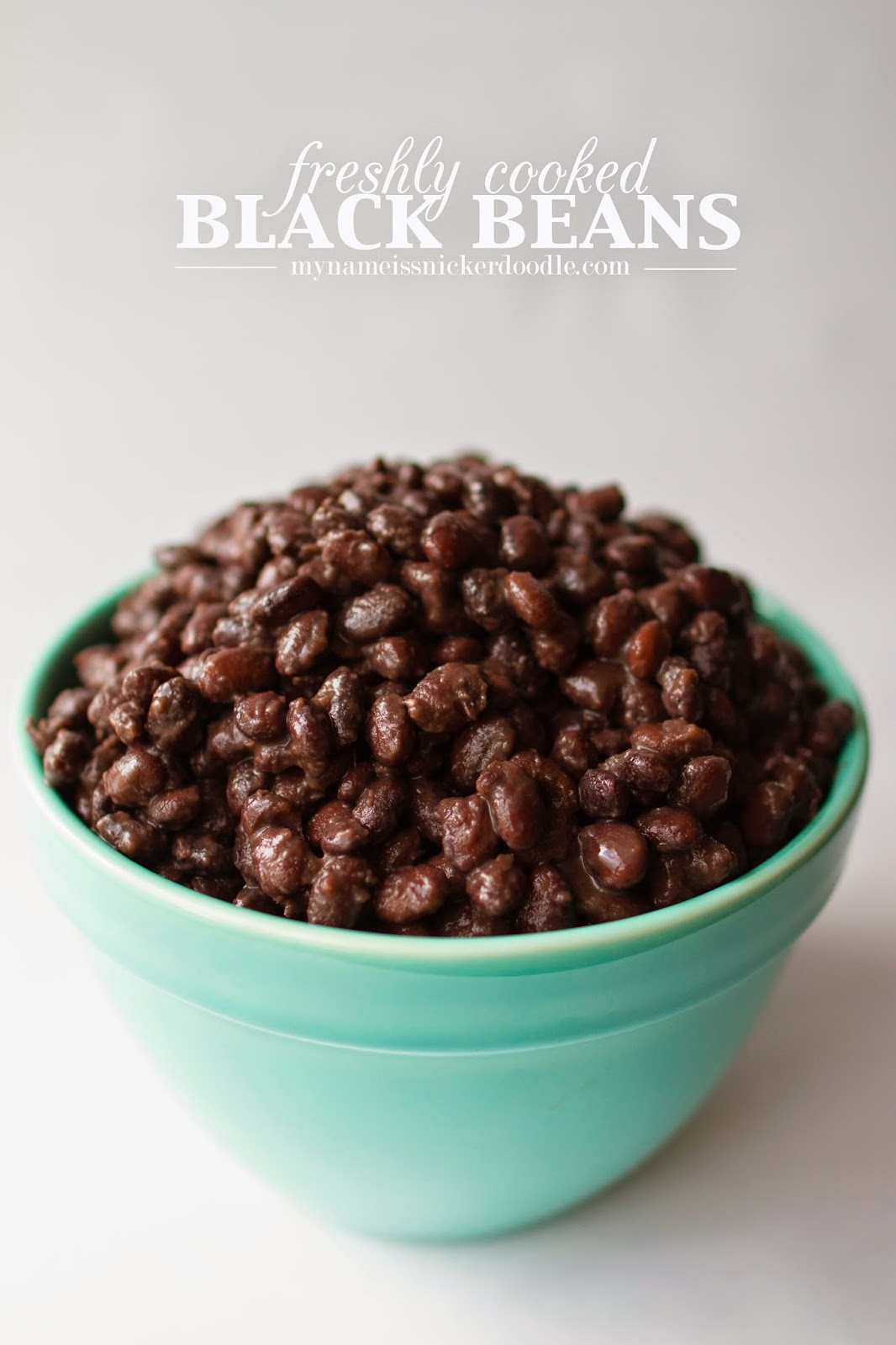 With this freshly cooked black bean recipe, you'll never want to buy canned again!  | My Name Is Snickerdoodle