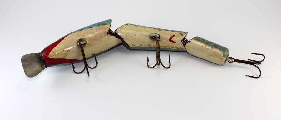 huge homemade jointed musky fishing lure | chance's folk art, Hard Baits