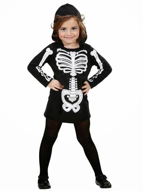 Skeletkjole til pige