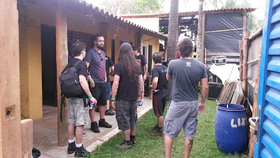 Backstage do Metal Land em Altinópolis