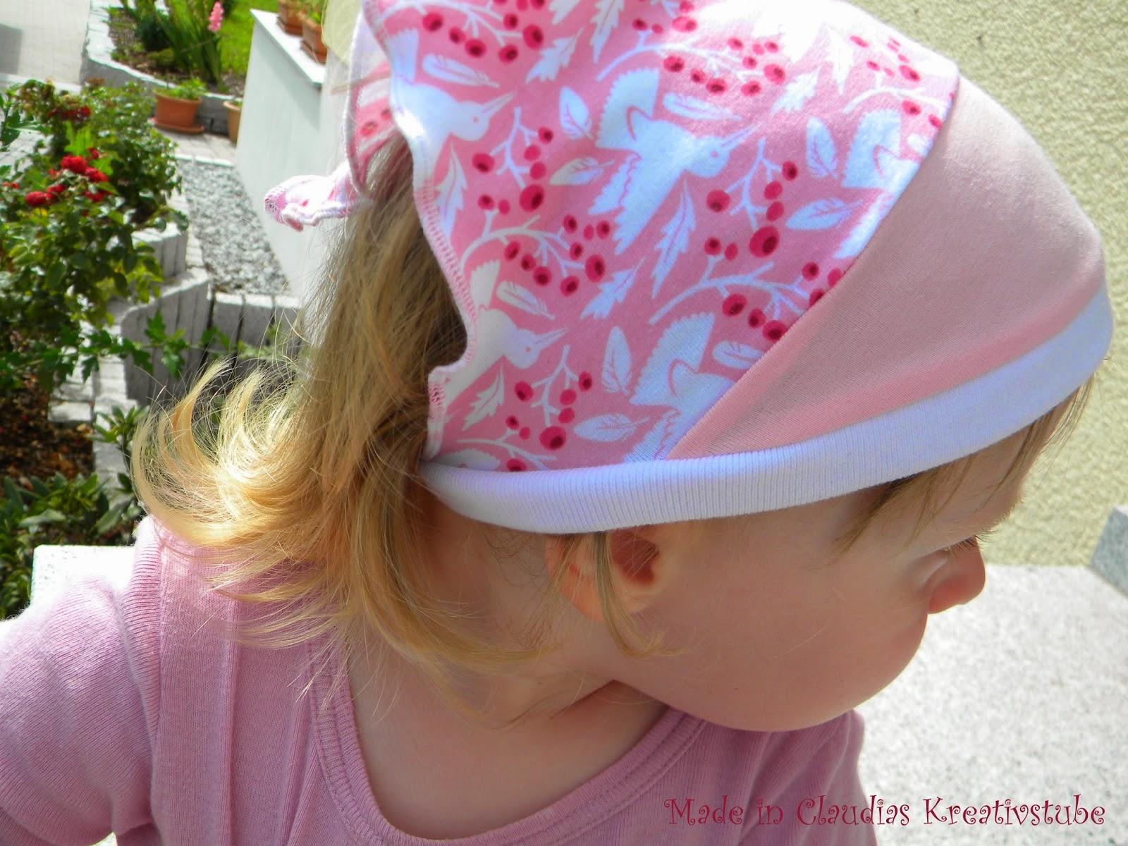 Nun näht sie auch noch ...: Kinderkopftuch selbst gemacht