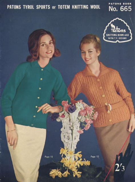 The Vintage Pattern Files Free 1960's Knitting Patterns - Patons Knitting Book No. 665