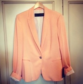 Fashion up your life: Peach blazer