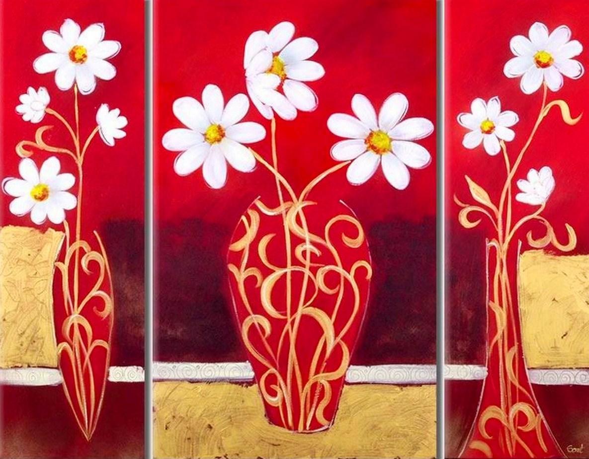 cuadros con flores minimalistas pinturas de flores minimalistas arte