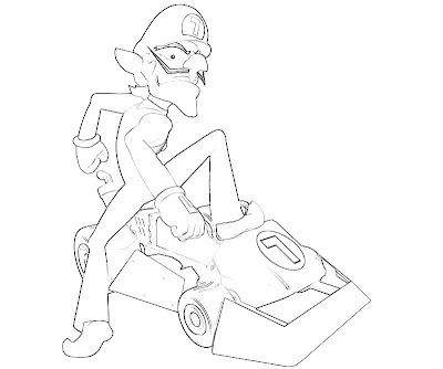 Waluigi Coloring Pages