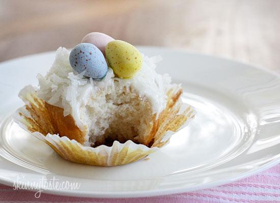 Skinny Coconut Cupcakes   Skinnytaste