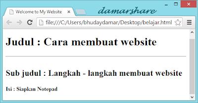 Membuat Teks Secara Bebas di HTML :
