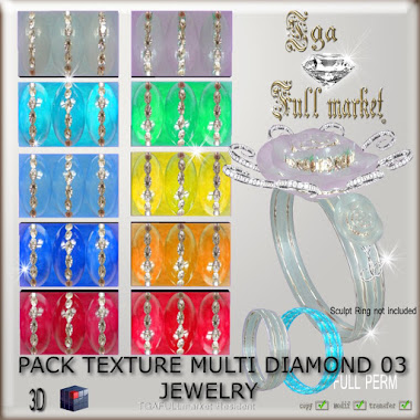 PACK TEXTURE MULTI DIAMOND 03 JEWELRY