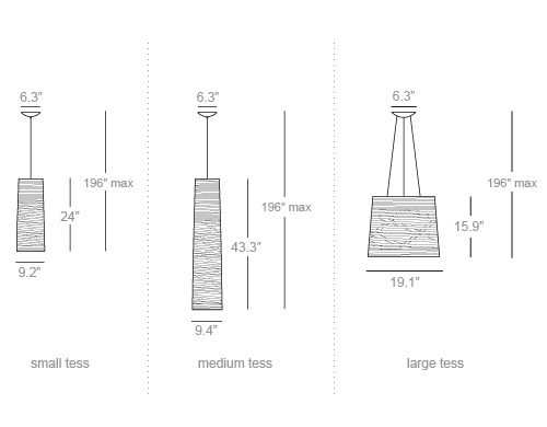 Tress Suspension Lamps Design _ Dimentions