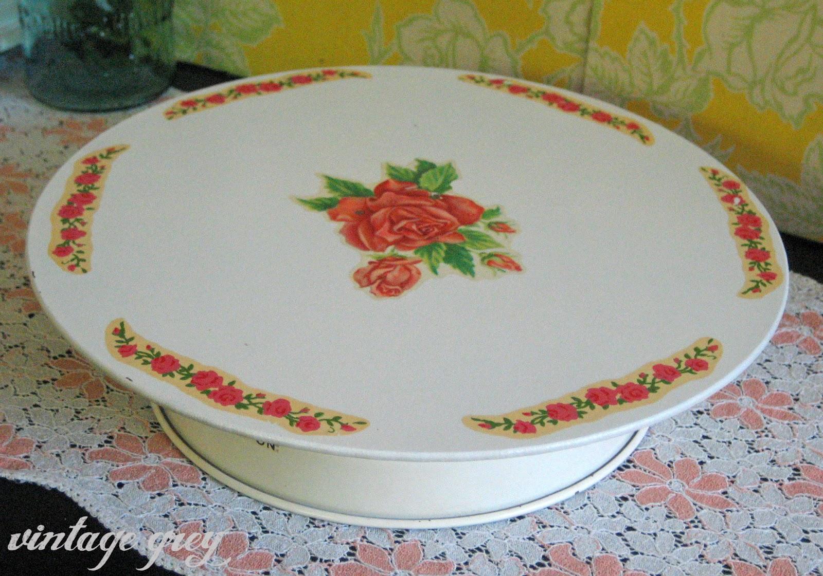 Vintage Grey Musical Plate