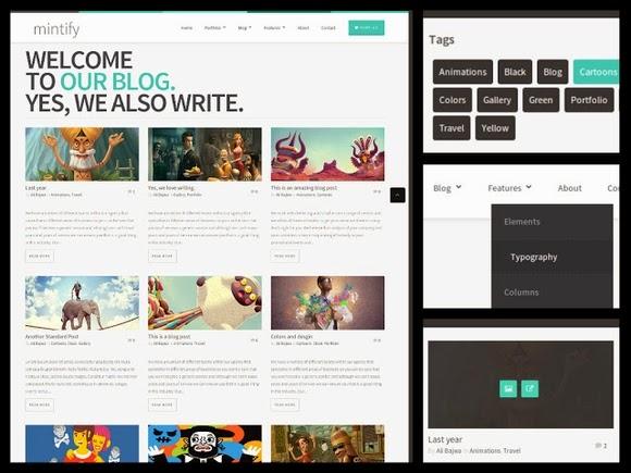 Mintify Magazine Blogger Template