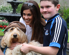 TV Presenter Glenda Gilson celebrating World Autism Day in Dublin with Clive &amp; Murray, April 2012