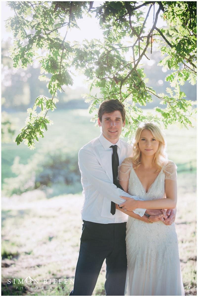 Bride and groom Pennard House