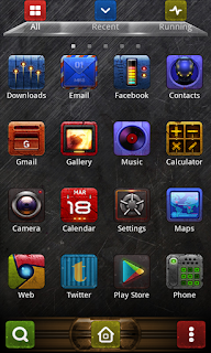 Screenshots of the Steel 2 GO Launcher for Android mobile, tablet, and Smartphone.