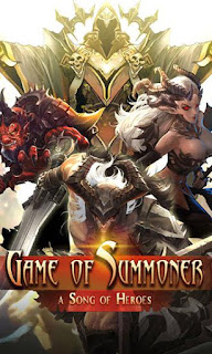 Screenshots of the Game of summoner: A song of heroes for Android tablet, phone.