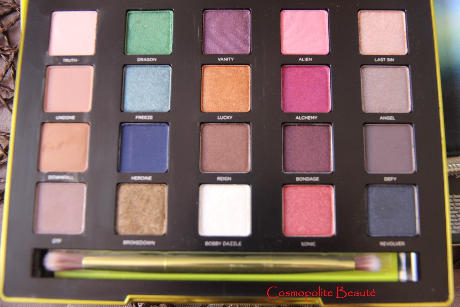 Uban decay, vice 3, swatch, maquillage, palette, fards à paupieres, eye shadow, make up,