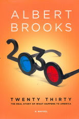 Cover of Twenty Thirty, with 3D glasses made out of the year 2030, one lense is broken