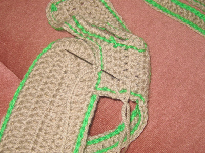 Crochet Sandals Joining Pieces
