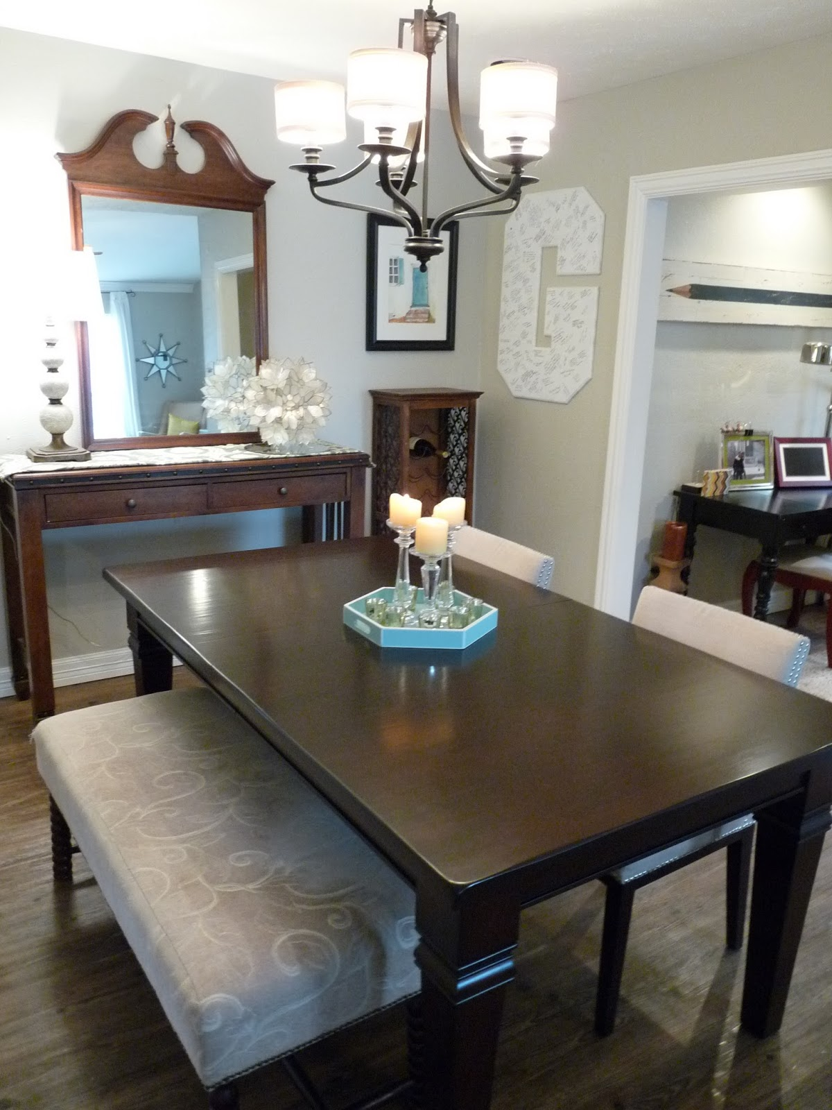 That Tray On The Table Is A Great Tiffany Blue With White Trim. What Girl  Doesnu0027t Like Tiffany Blue? I Picked It Up On Clearance At Marshalls Back In  The ...