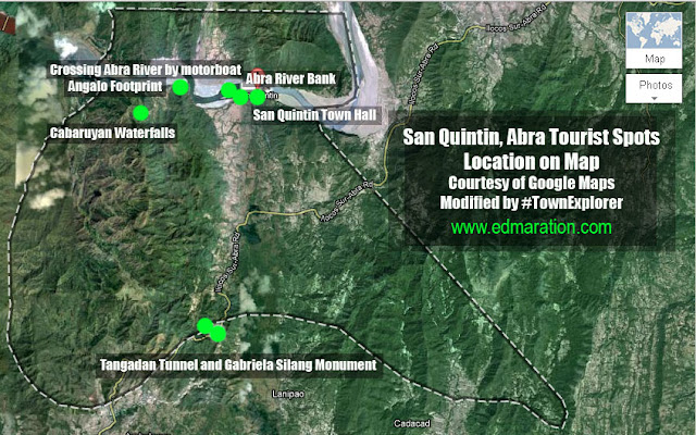 San Quintin, Abra Travel Itinerary and Tourist Spots Map