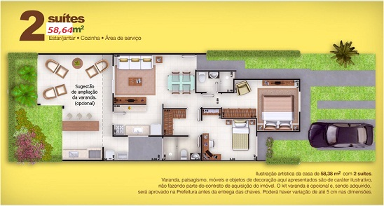 de dois quartos planta baixa casa de duas suites planta baixa casa de