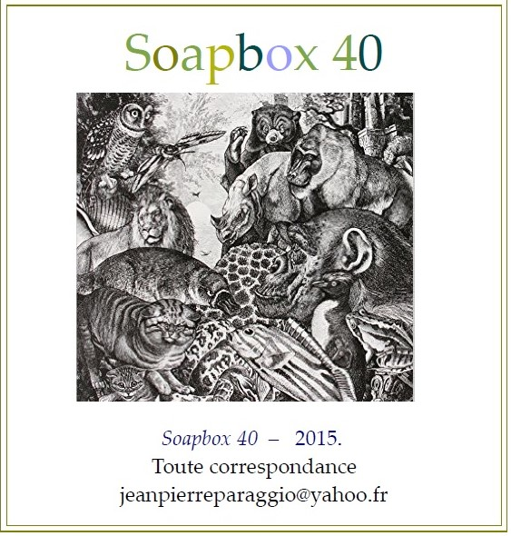 SOAPBOX 40, AUTOMNE 2015, ART & POÉSIE