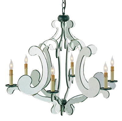 Modern mirrored chandelier the designer insider modern mirrored chandelier aloadofball