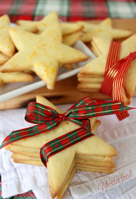 Cornmeal Stars with Orange Glaze