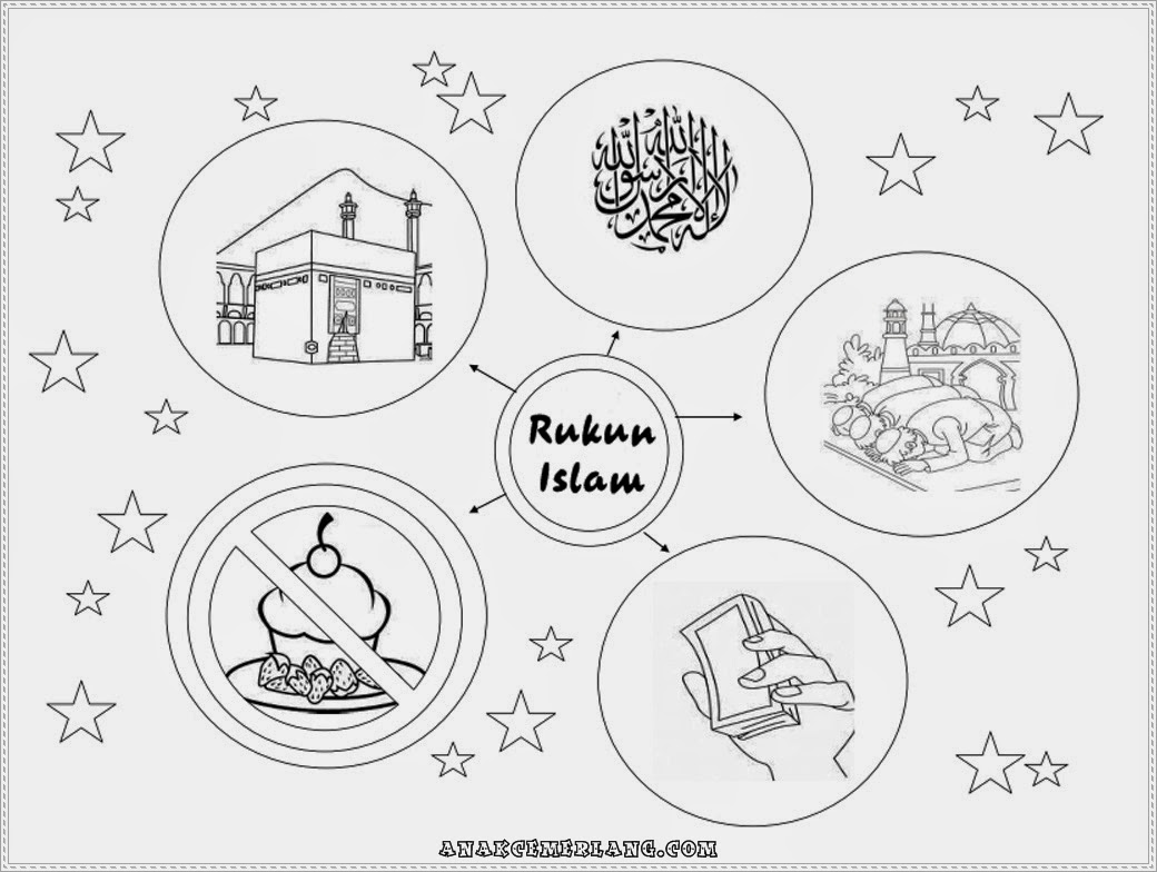 Mewarnai Gambar Rukun Islam