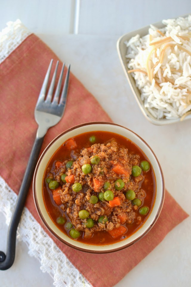 Vegetarian Lebanese Stew with Peas and Rice