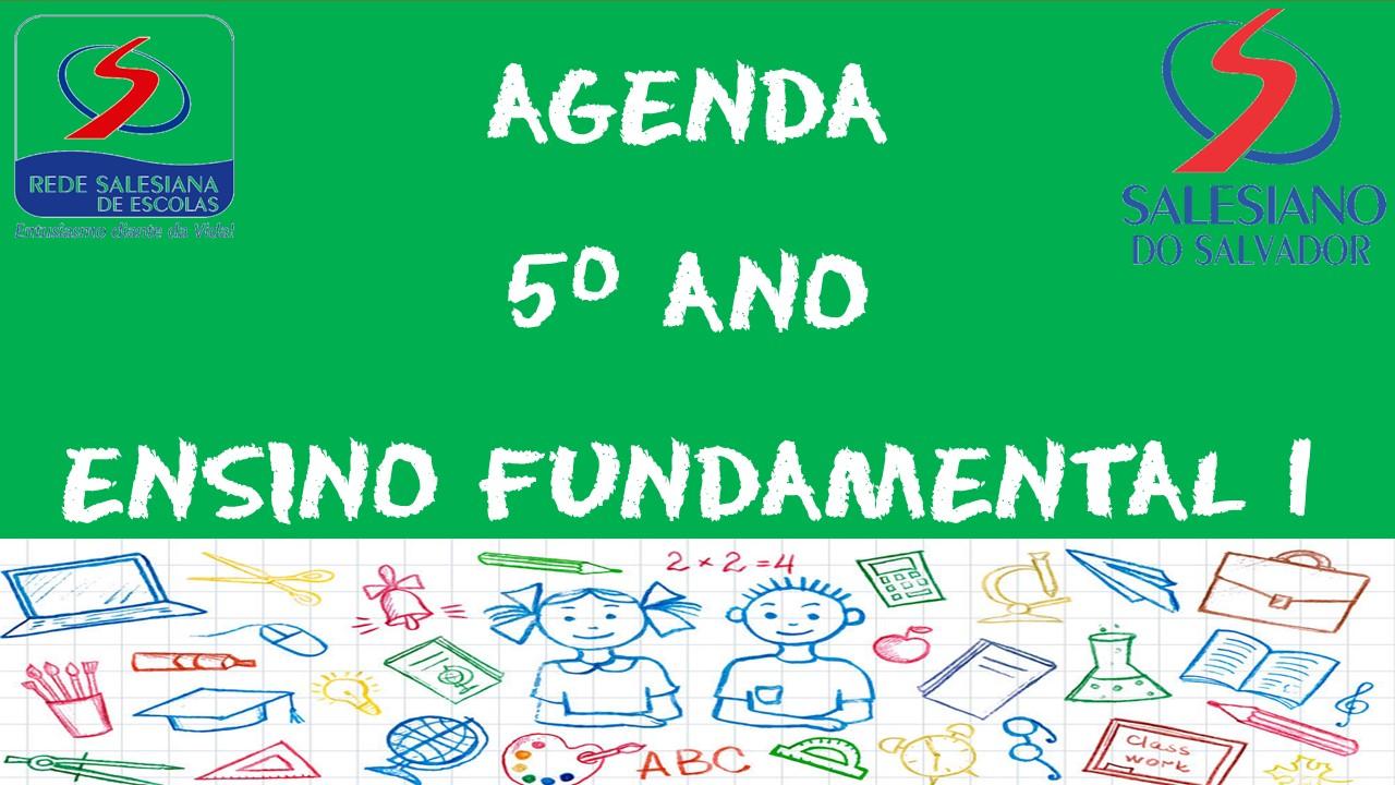 AGENDA 5º ANO ENSINO FUNDAMENTAL 1