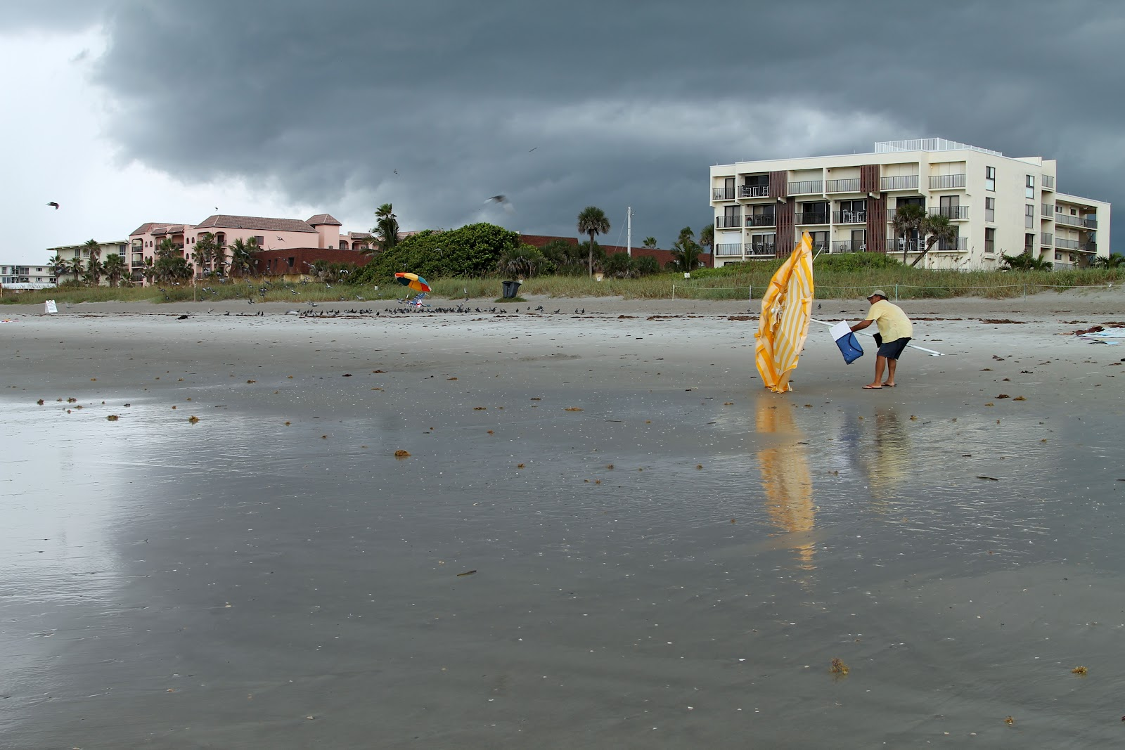 cocoa beach in a storm