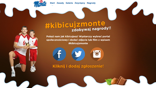 "Reklama akcji ""Kibicuj z Monte"""
