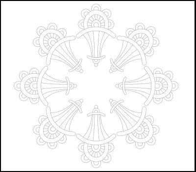 circular zentangle free hand embroidery pattern
