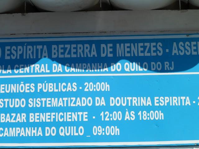 Placa da Escola do Quilo do Rio de Janeiro