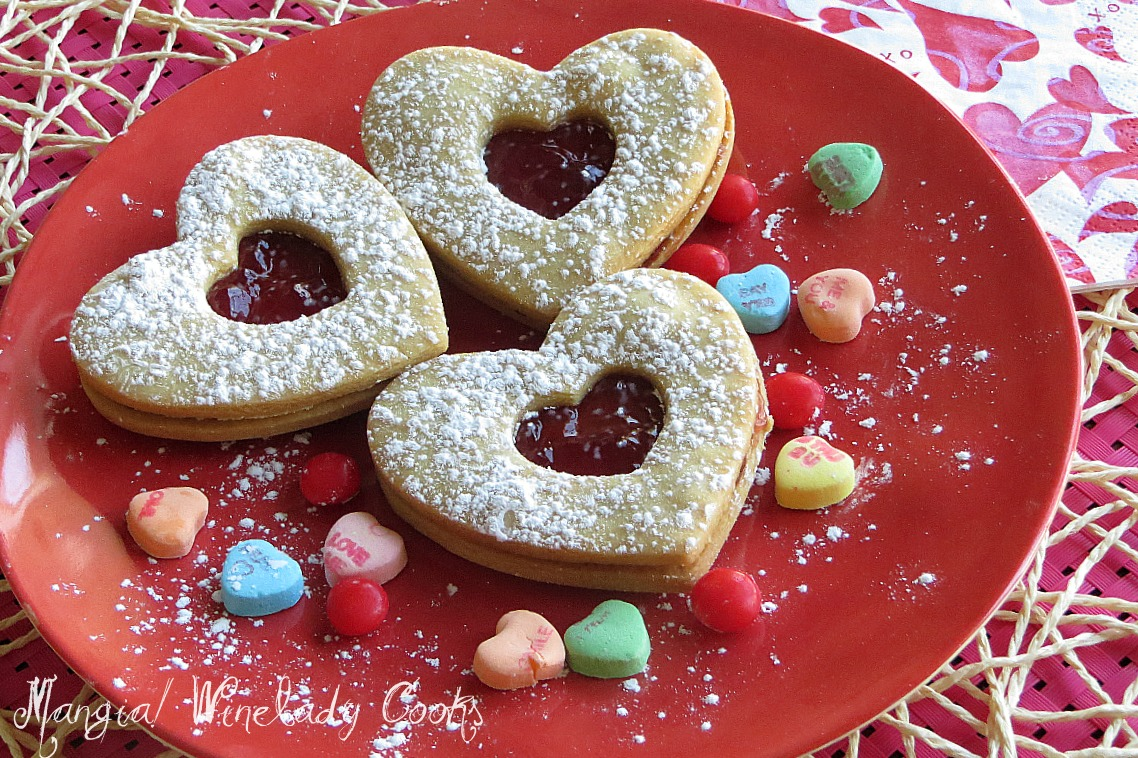 This Valentine Sandwich Cookie is a shortbread cookie recipe. I know I ...