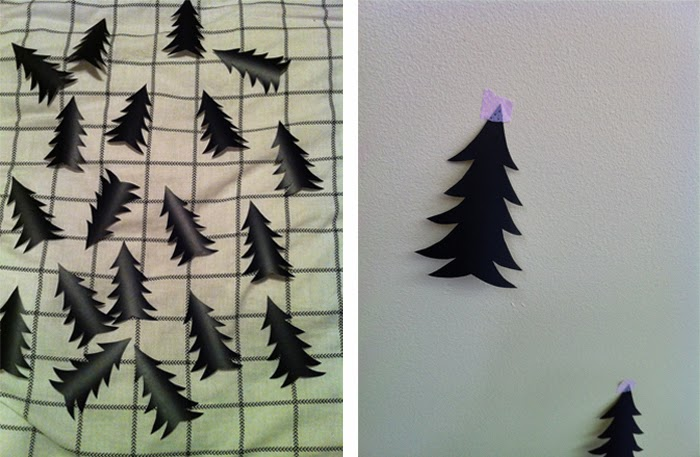 DIY Vinyl Tree Decals from Glorious Bandits Blog