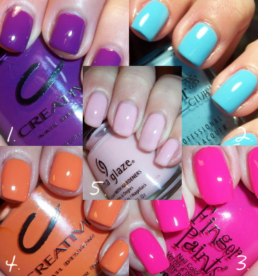 nailpolishcollage trends in manicure nails in many colors nails design nails art nail art design Colorful nails art colorful design Colored nails art beautiful manicure