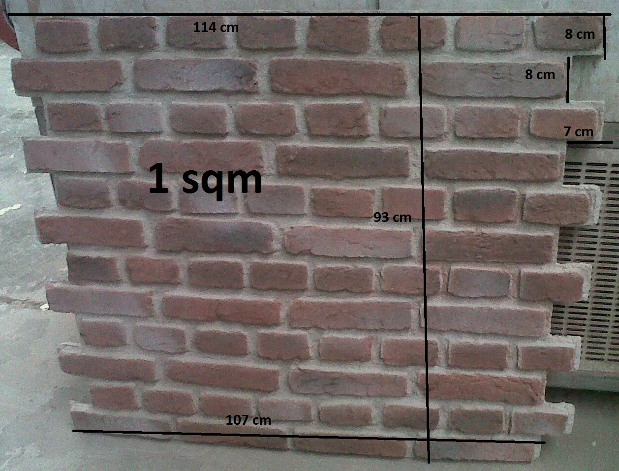 Brick driveway image brick effect wall panels - Artificial brick wall panels ...