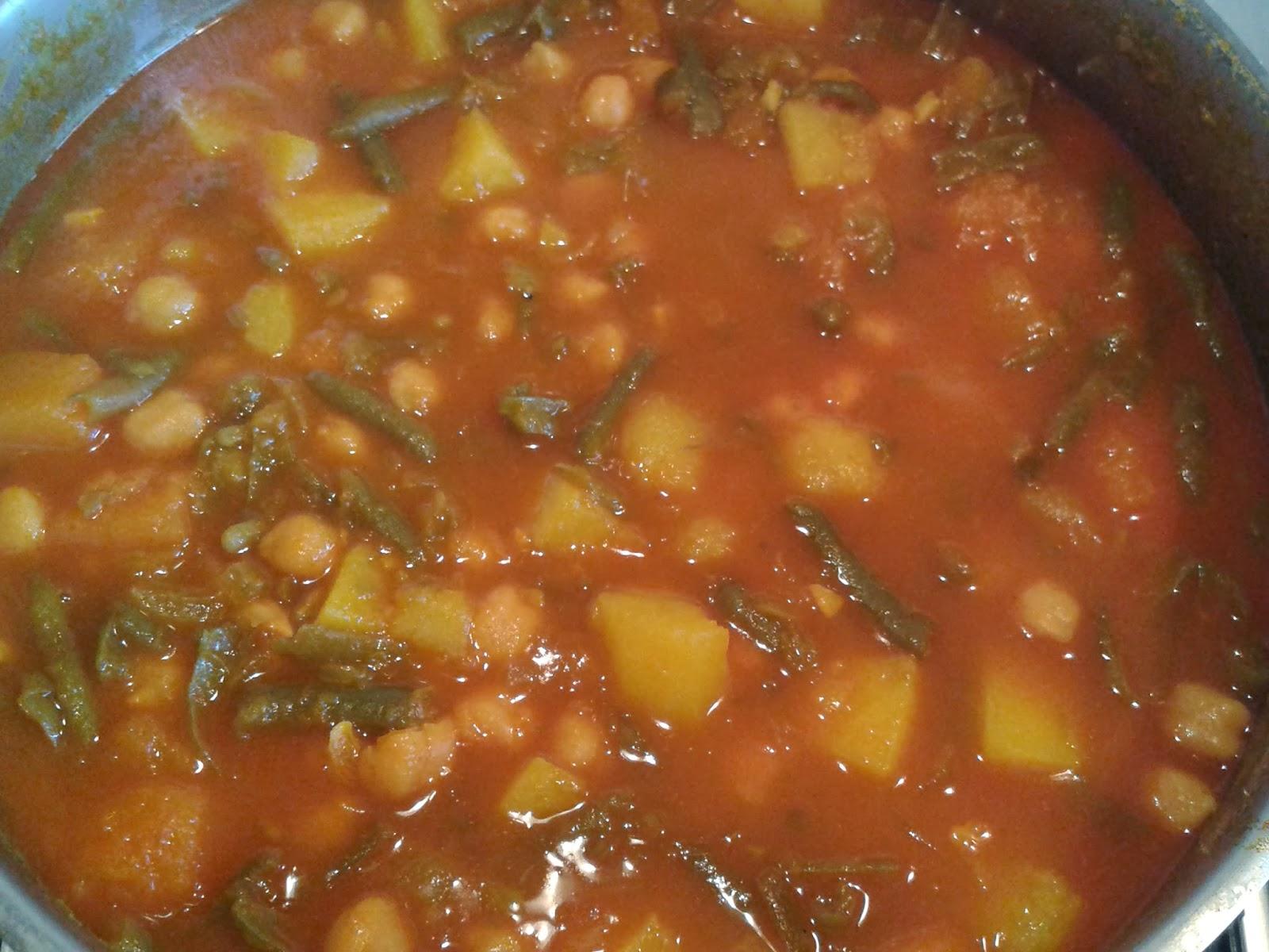 Las recetas de la nena potaje de garbanzos con calabaza y - Potaje de garbanzos y judias ...