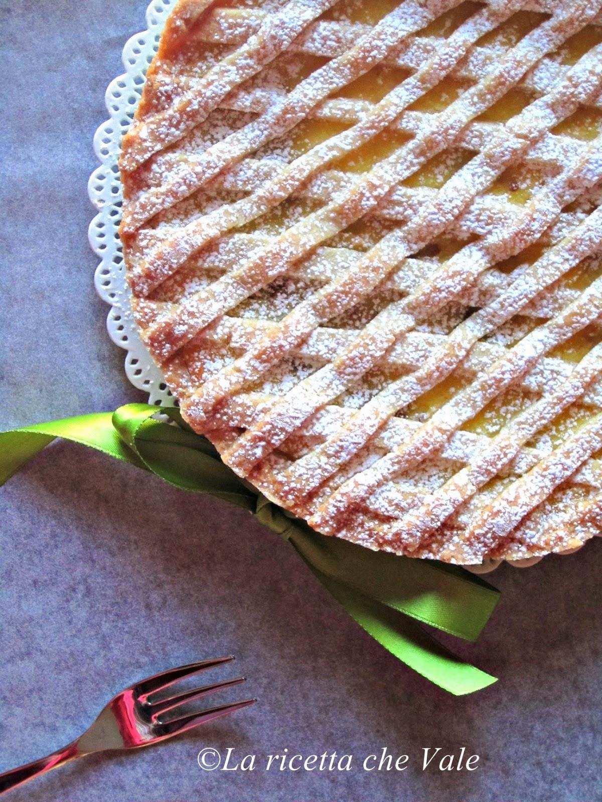crostata con mud cake e crema pasticciera