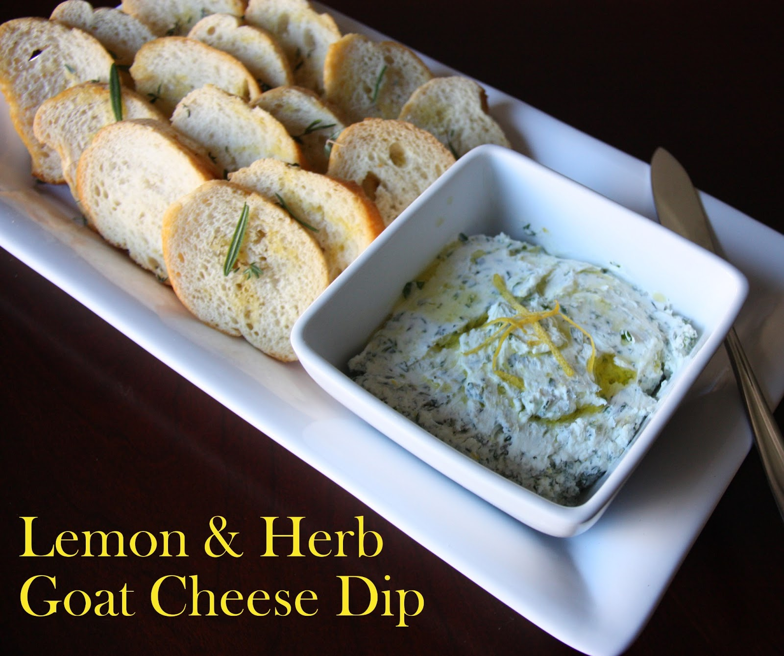 Lemon & Herb Goat Cheese Dip - The Lovebugs Blog
