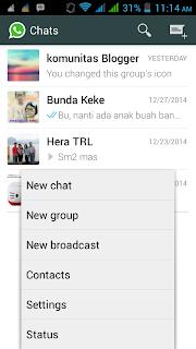 membuat pesan broadcast di whatsapp