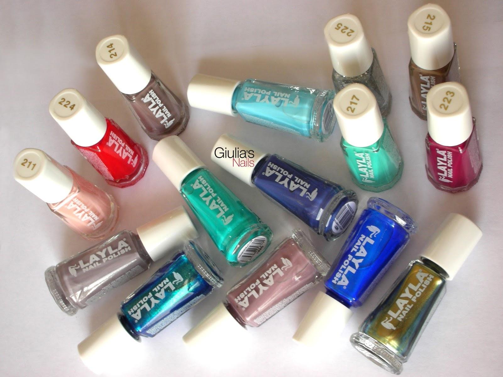 Il colorato blog di giulia 39 s nails layla smalti linea - Smalti idrorepellenti per bagno ...