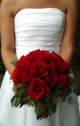 best wedding ideas Red Wedding Bouquet