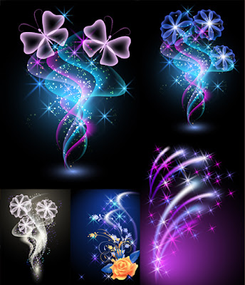 Flowers and Light Vector Illustration