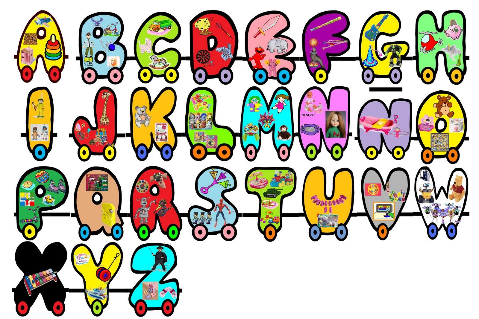 Con este abecedario hemos jugado a ver qué juguetes empiezan por cada ...