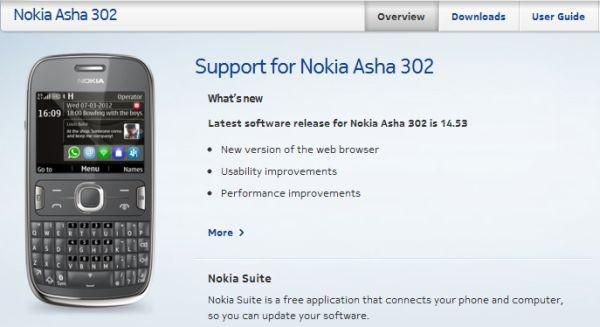 Nokia Asha 302 Firmware Updated to v14.53