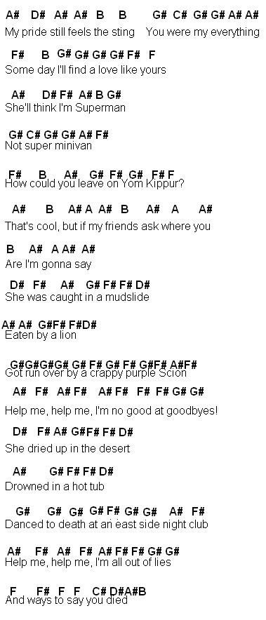 Flute Sheet Music 50 Ways To Say Goodbye
